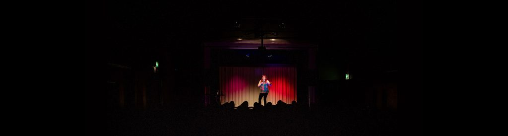 wide shot of the goring comedy club stage
