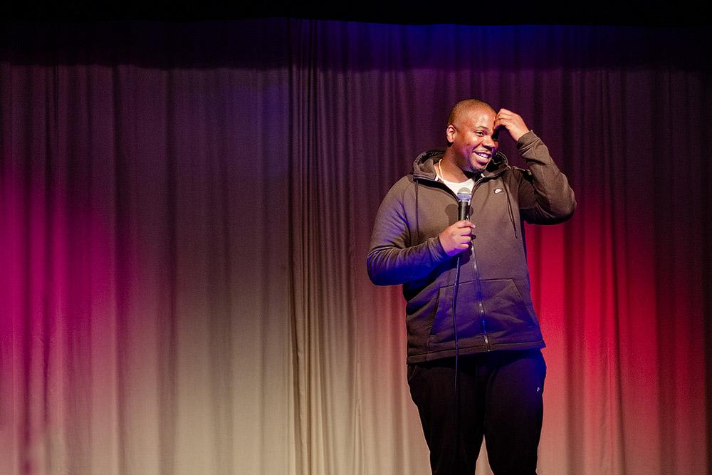 comedian marlon davis on stage